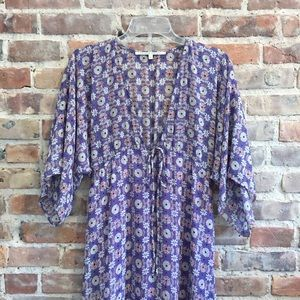 Collective Concepts sheer lavender batwing maxi